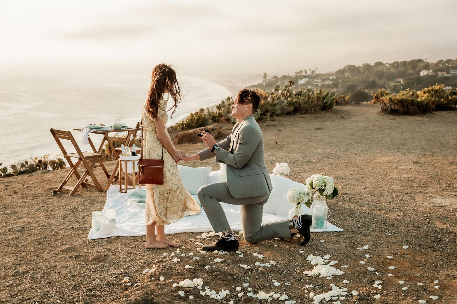 Surprise Proposal in Malibu