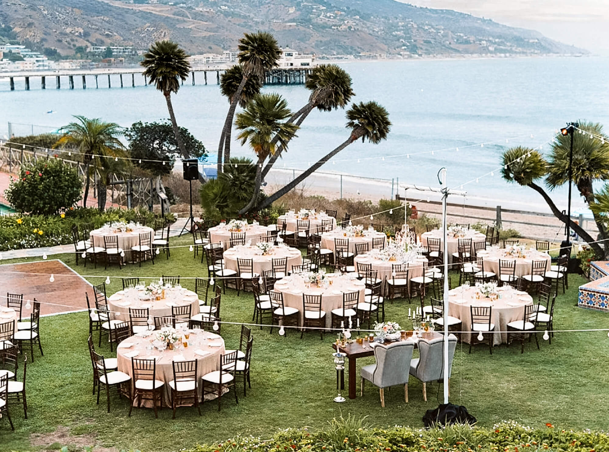 California Beach wedding venues: Adamson House Malibu