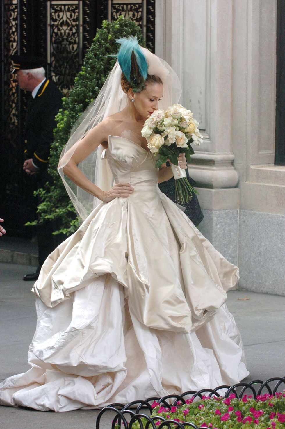 Carrie Bradshaw movie wedding dress