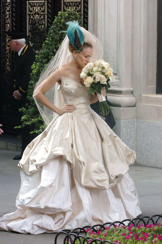 Carrie Bradshaw movie wedding dress
