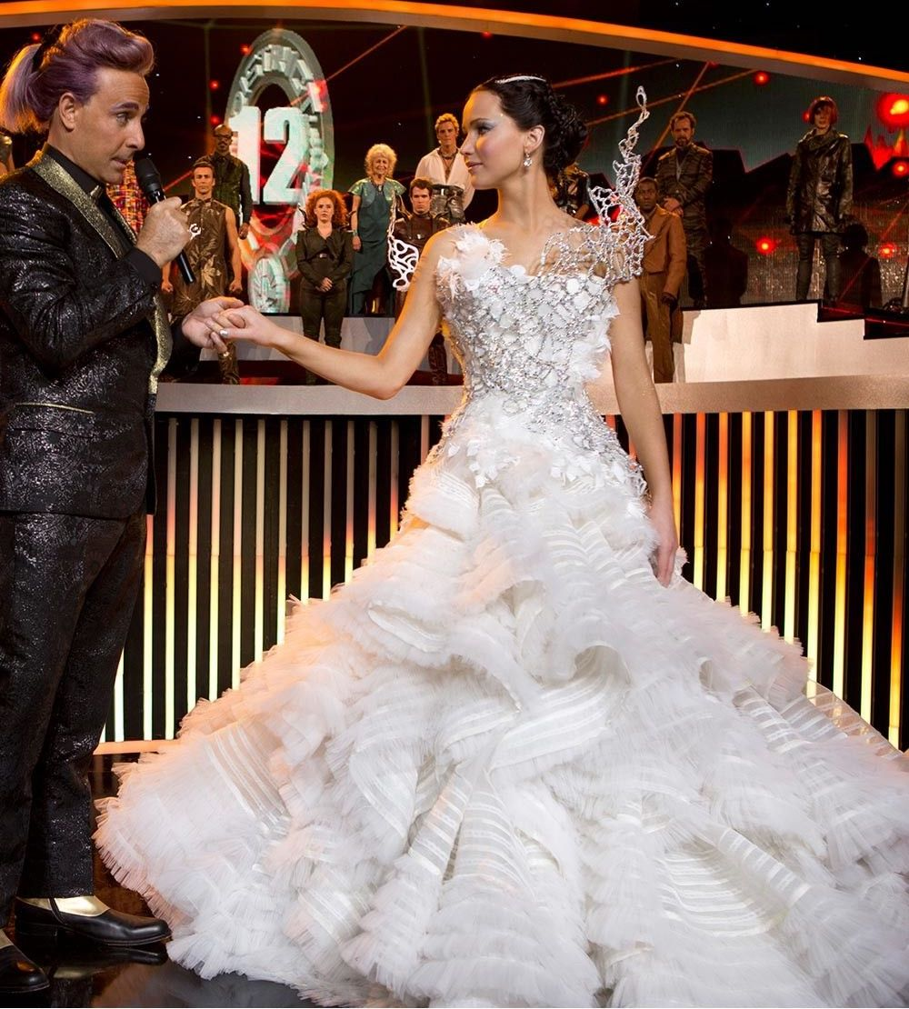 Katniss in her wedding dress