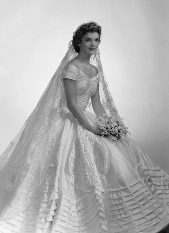 Jacqueline Kennedy in her wedding dress