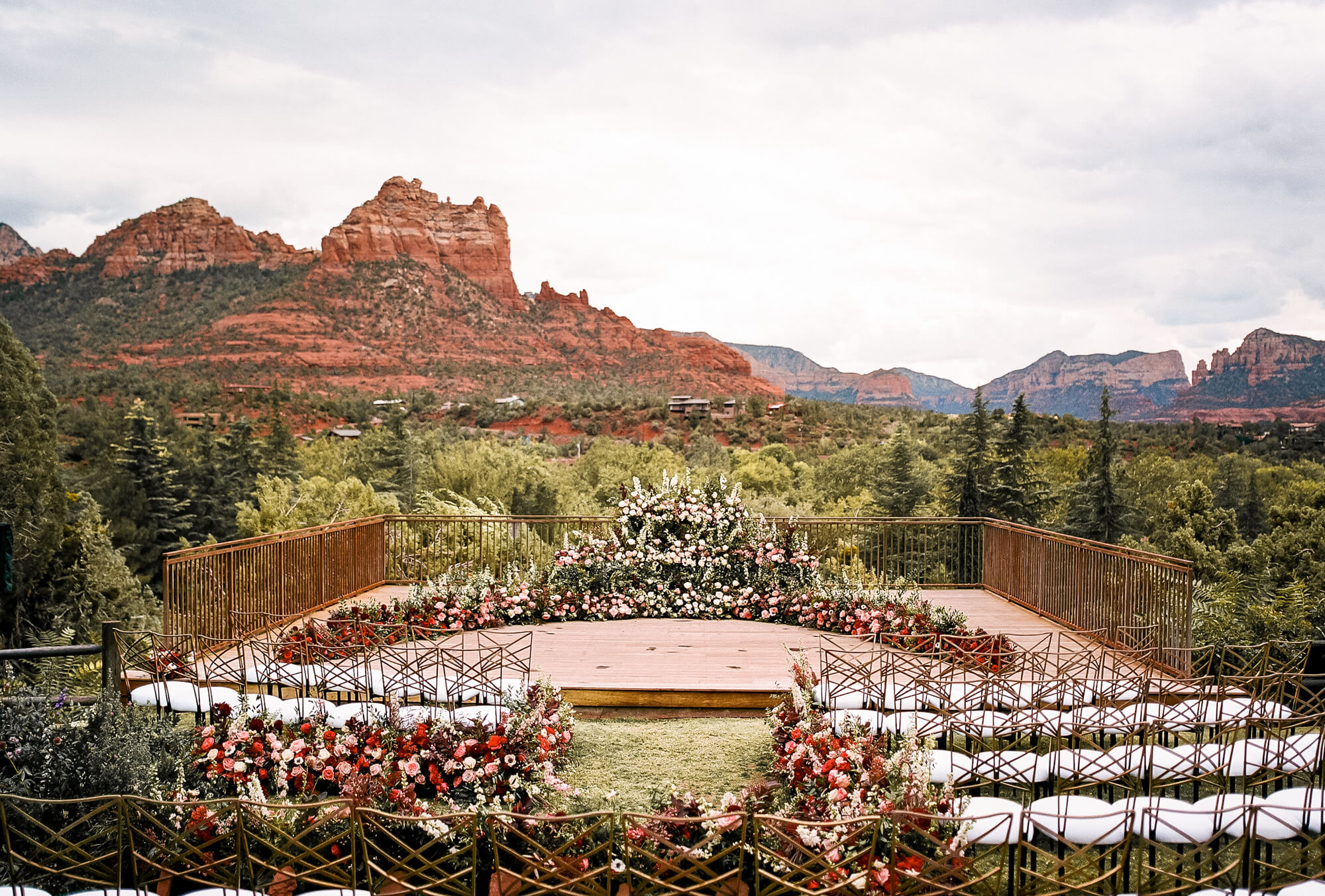 Wedding ceremony in Sedona, AZ