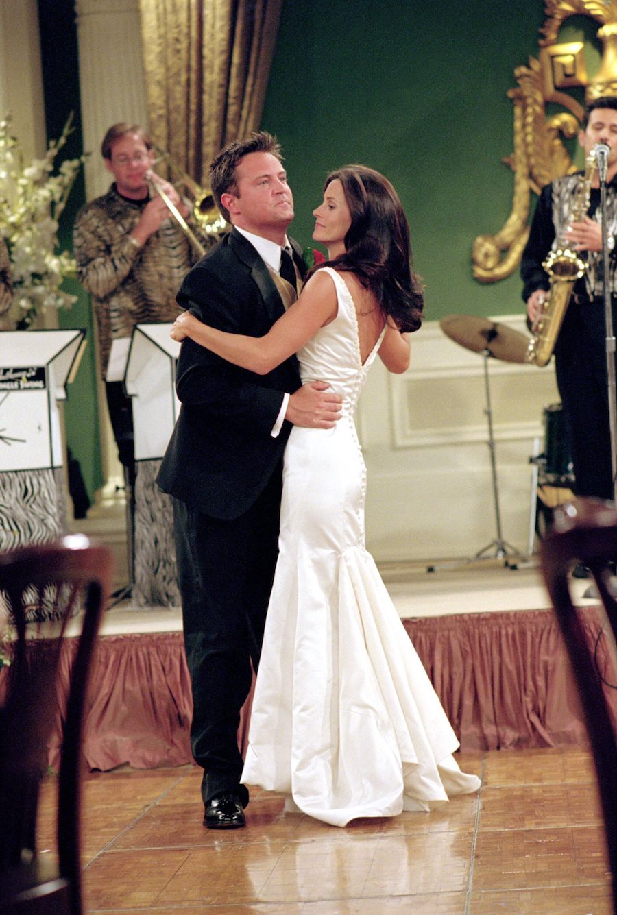 Monica and Chandler dancing at their wedding