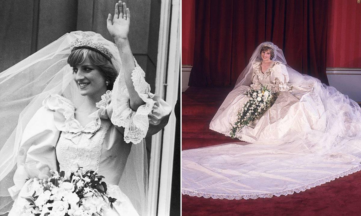Princess Diana in her dress